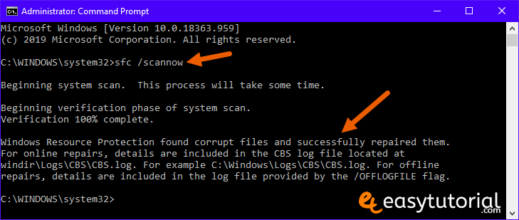 Fix Corrupt Windows 10 Files 1 Sfc Scannow