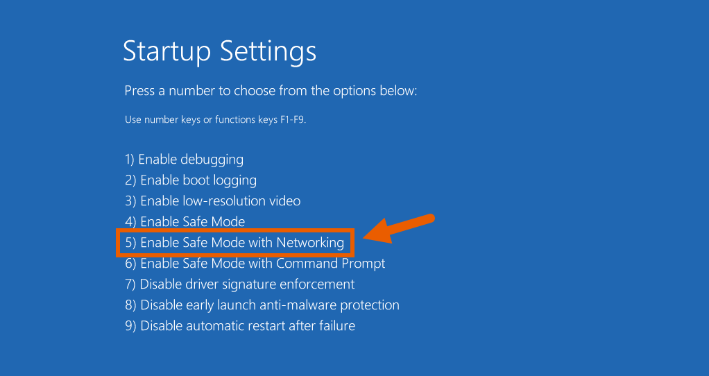 Fix Corrupt Windows 10 Files 10 Enable Safe Mode With Networking