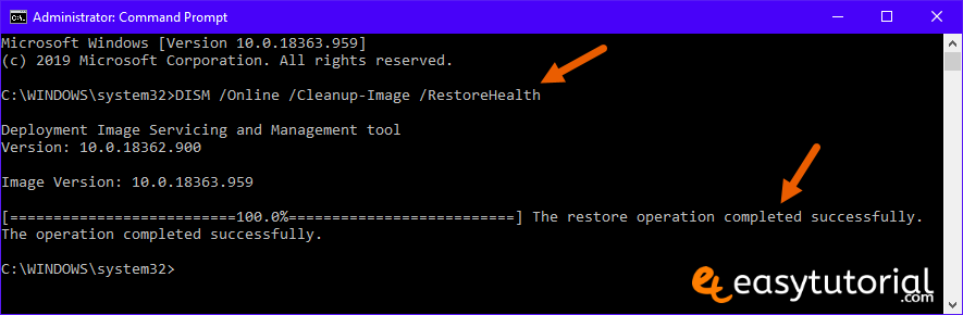 Fix Corrupt Windows 10 Files 4 Dism Online Cleanup Image Restorehealth Cmd Command Prompt
