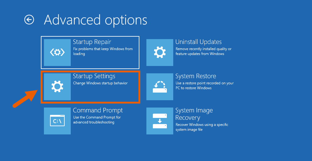 Fix Corrupt Windows 10 Files 8 Startup Settings