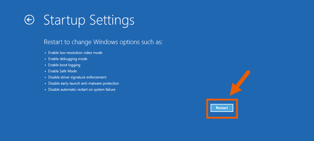 Fix Corrupt Windows 10 Files 9 Startup Settings Windows Options