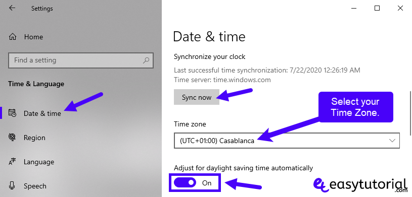 Fix Repair Fixed Solved Microsoft Store Windows 10 13 Date Time Language Time Zone Synchronize