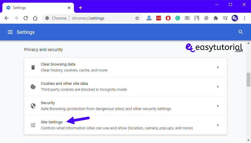 Fix Repair No Sound Google Chrome Windows 10 8 Privacy Security Site Settings
