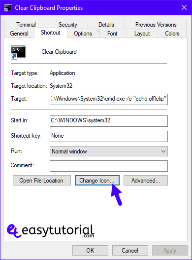 Fix Repair Solve Fixed Solved Fixed Copy Paste Clipboard Cmd Command Prompt Windows 10 8 Change Icon Shortcut