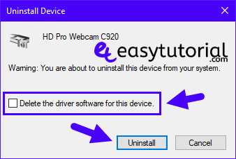 Fix Repair Solve Webcam Camera Windows 10 5 Uninstall Without Delete Driver Software