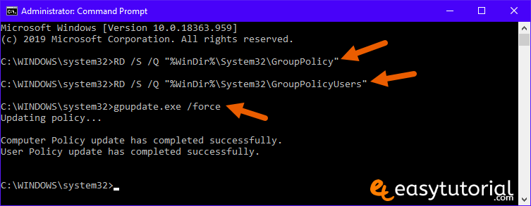 Reset Group Policy Settings Gpedit Msc 2 Cmd Group Policy Update Gpupdate