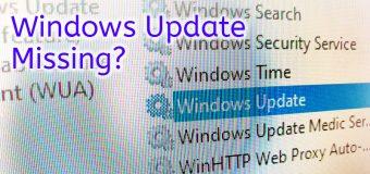 Windows Update Service Missing Fix Solved Repair Easy Tutorial 340x160