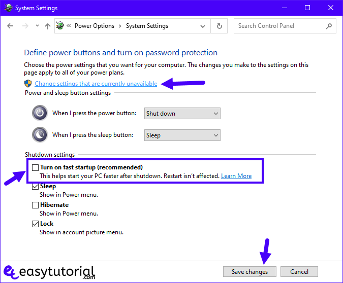 Fix Mouse Lag Windows 10 Stutter Problem Freeze 15 Turn Off Fast Startup Power Options