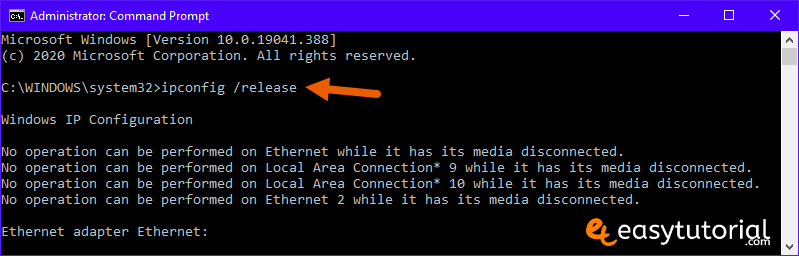 Wi Fi Doesnt Have A Valid Ip Configuration Fix Solution 2 Ipconfig Release